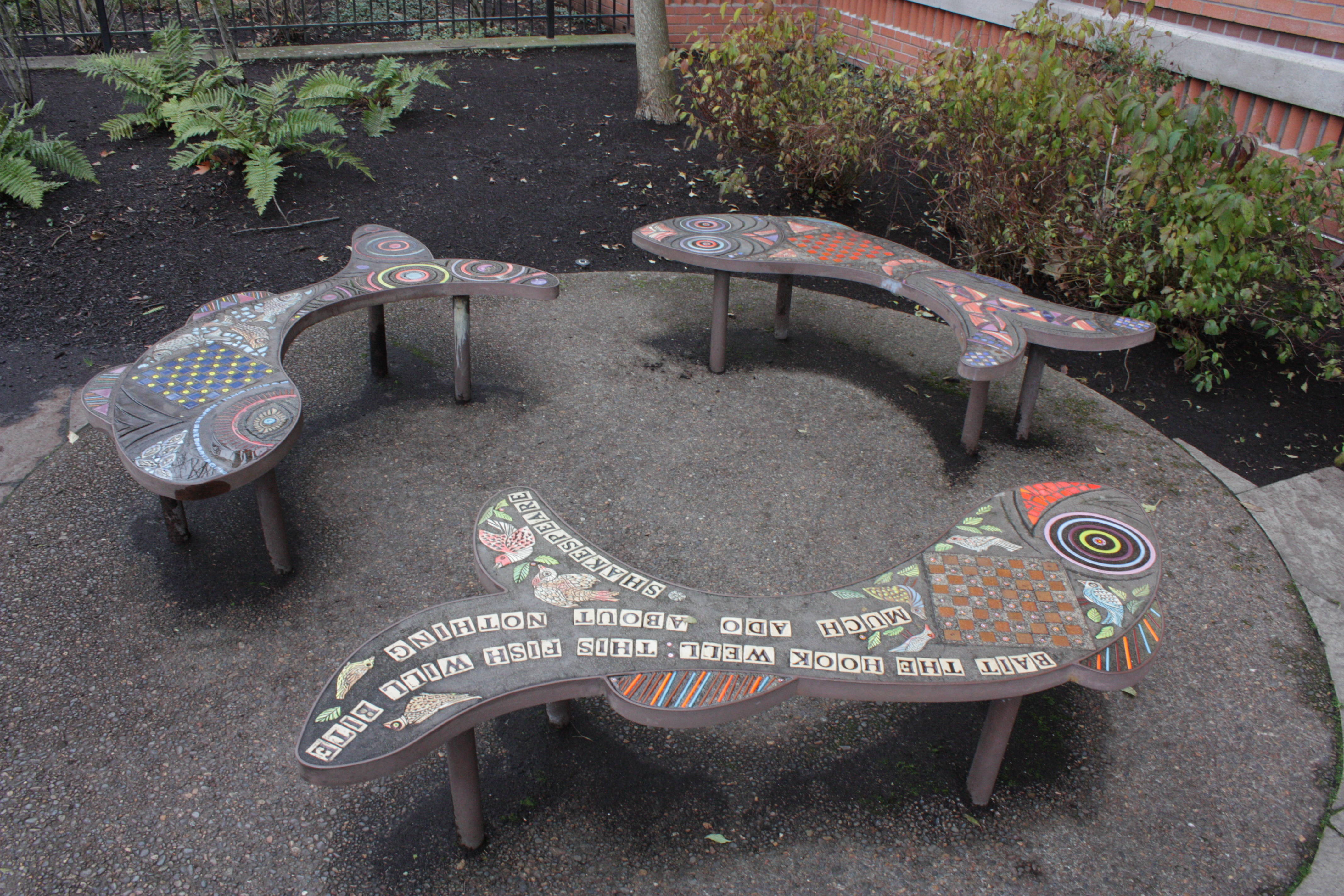 Fun outdoor space at Eugene Public Library. Photo Courtesy of See Ash.